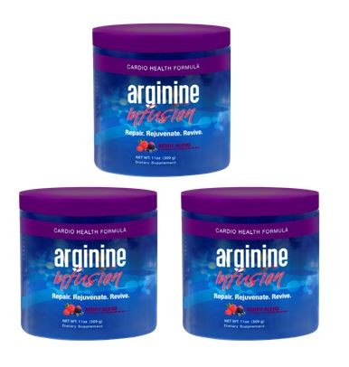 Arginine Infusion 3 Jars Natural Formula for Cardio Health (5,000mg L-arginine & 1,000mg L-citrulline Per Serving) Not Proargi 9
