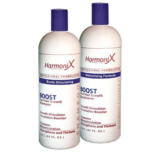 BOOST Shampoo and Conditioner for FAST Hair Growth 33 oz each by Harmonix International
