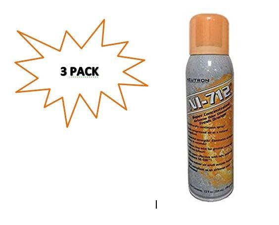 NI-712 Odor Eliminator, Orange Continuous Spray, 3 Cans