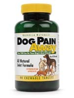 Dog Pain Away, Arthritis, Inflammation, Joint Pain, & Decreased Flexibility - 90 Dog Chewable Tablets